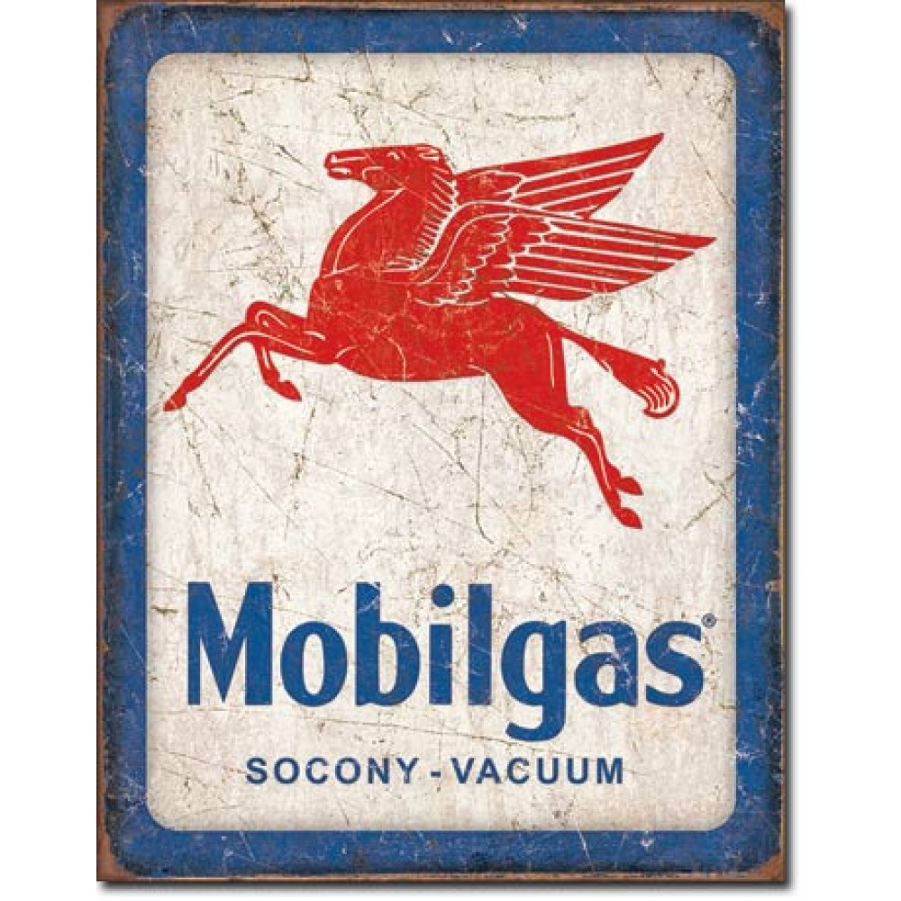Placa metalica MobilGas Socony -Vacuum 30x40cm