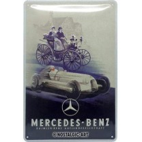 Placa metalica 20x30 Mercedes-Benz - Silver Arrow Historic
