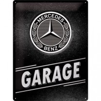 Placa metalica 30x40 Mercedes-Benz - Garage