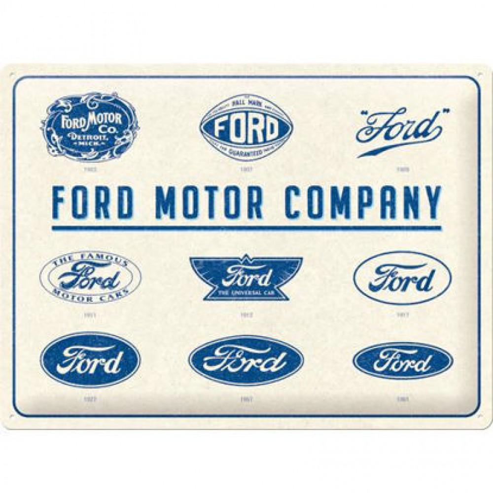 Placa metalica 30x40 Ford - Logo Evolution