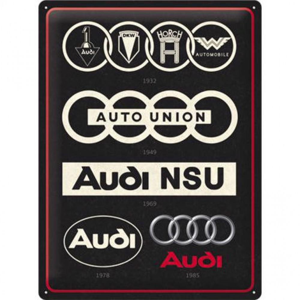 Placa metalica 30x40 Audi - Logo Evolution