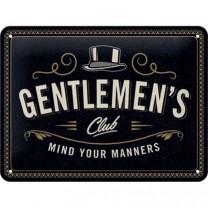 Placa metalica 15x20 Gentlemen's Club