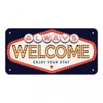 Placa metalica 10x20 Welcome