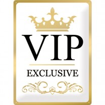 Placa metalica 30X40 VIP Exclusive