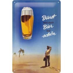 Placa metalica - Bere in desert - 20x30 cm