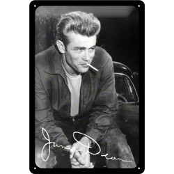 Placa metalica - James Dean - 20x30 cm