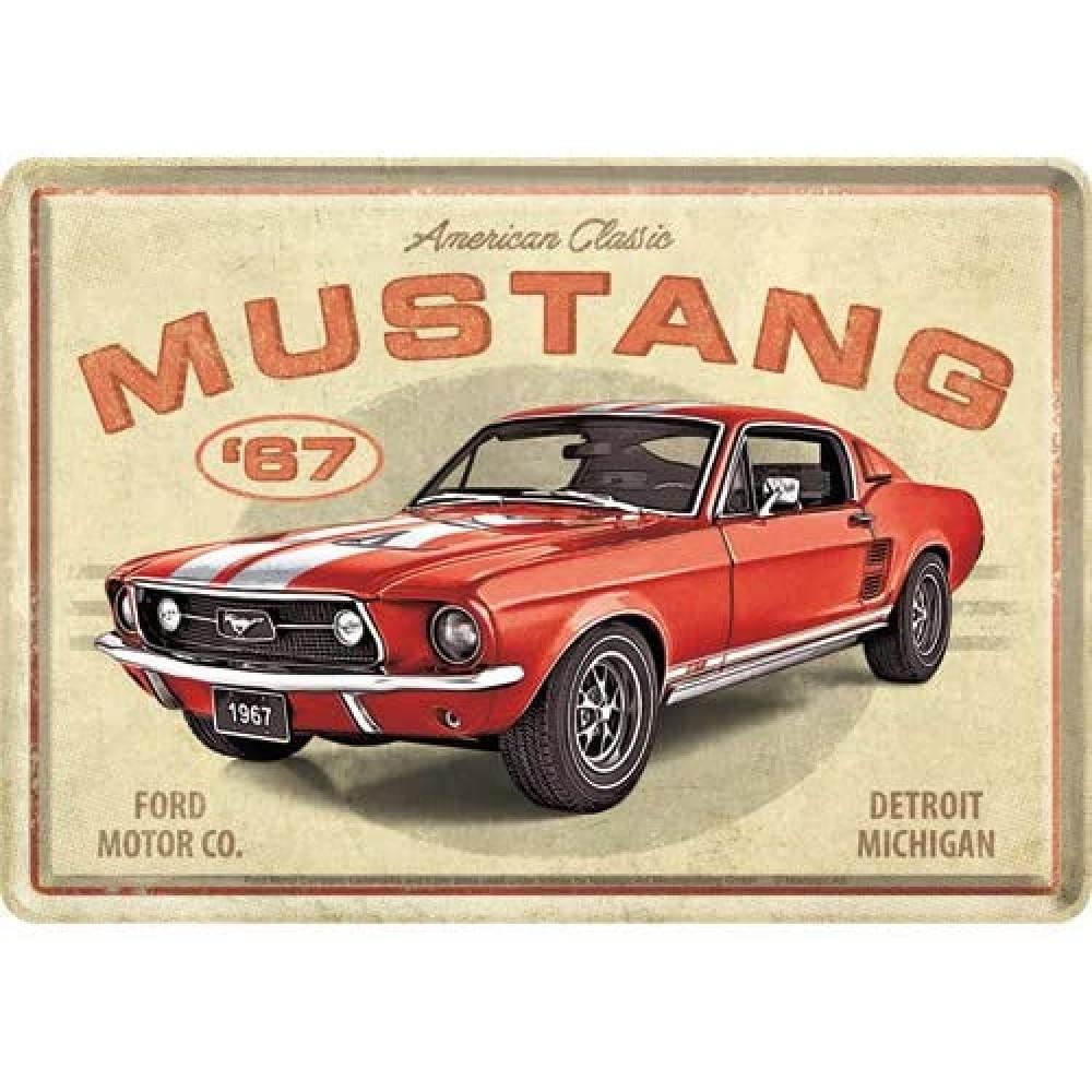 Placa metalica Ford Mustang GT1967 - 10x14cm