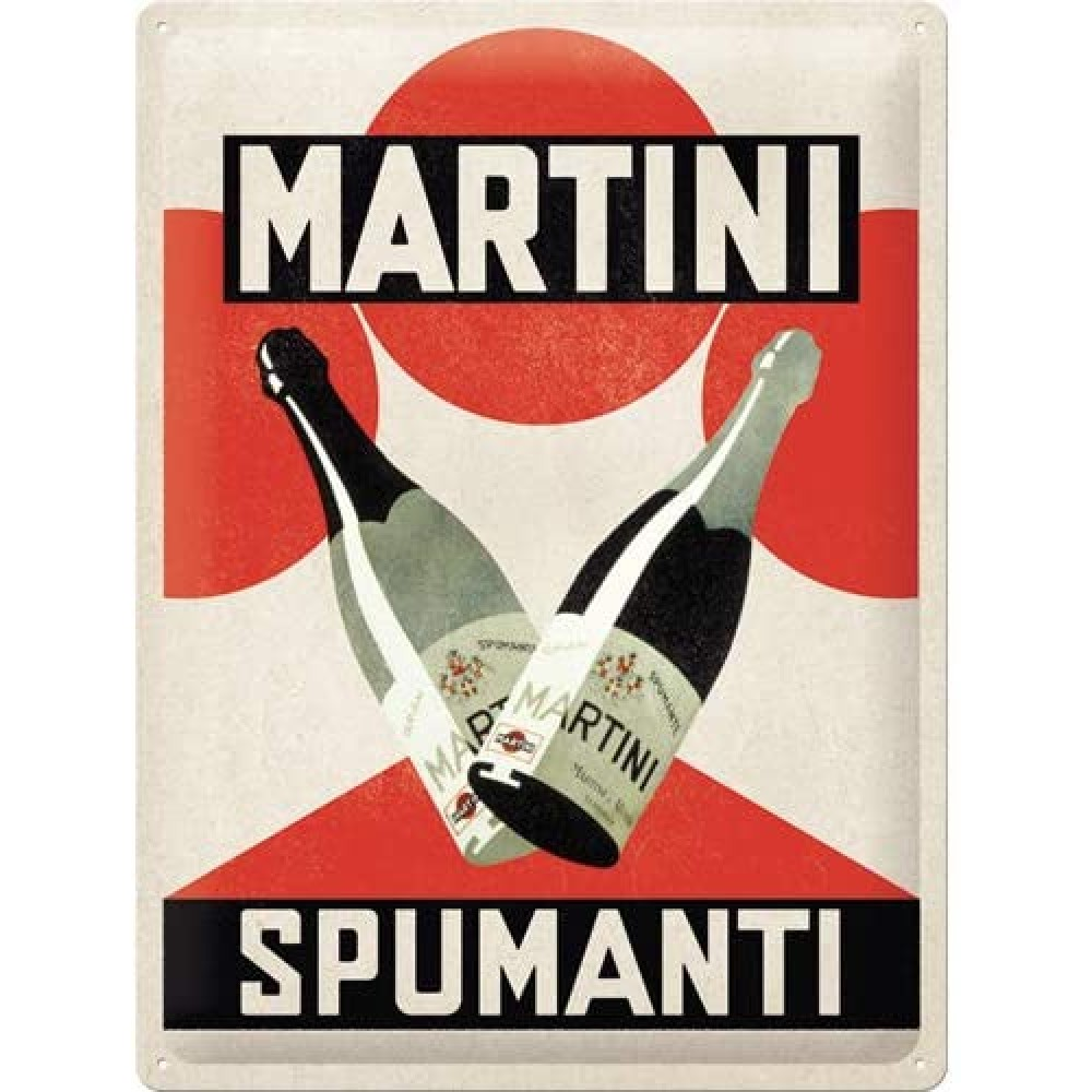 Placa metalica Martini - Spumanti 30x40cm