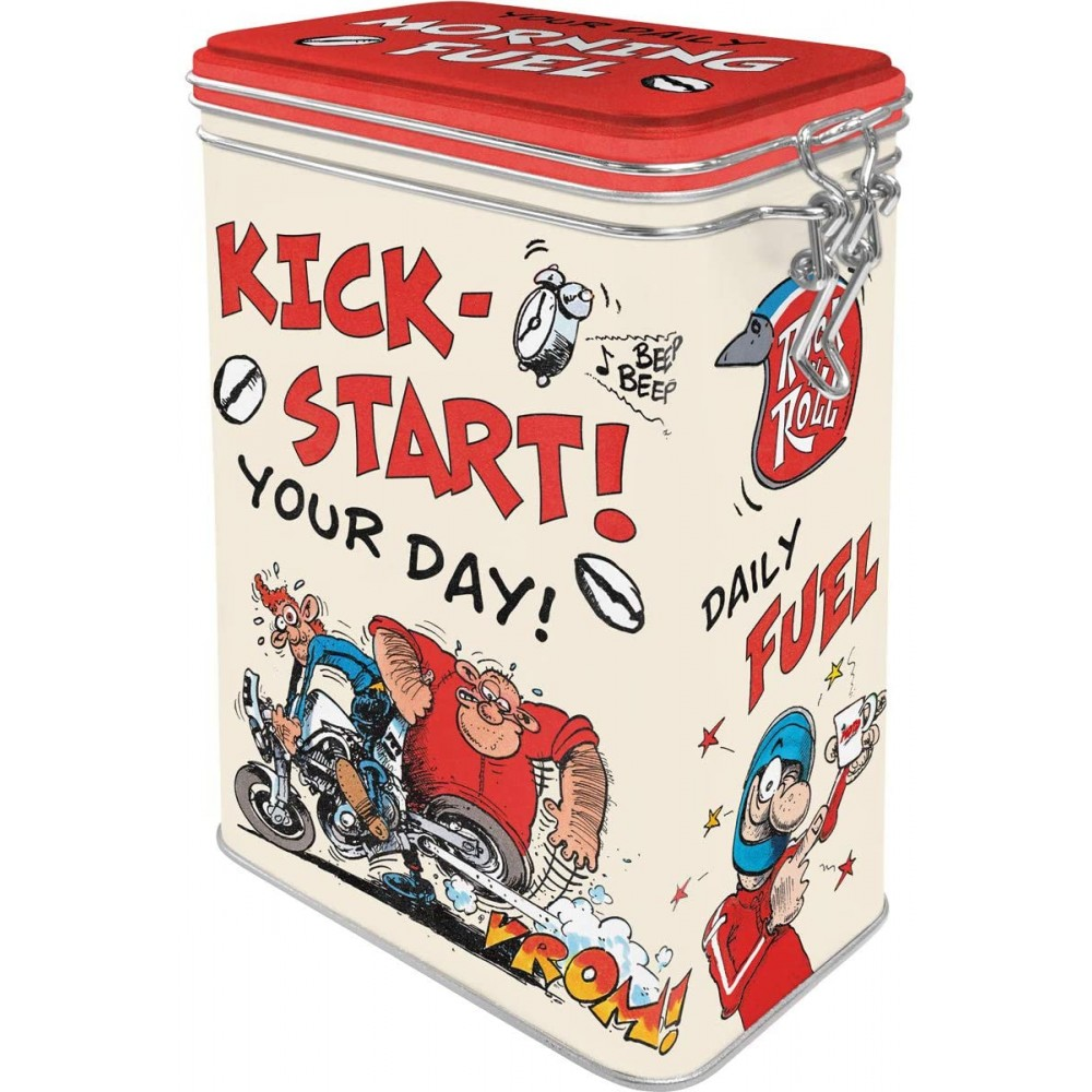 Cutie metalica cu capac etans MOTOmania - Kick-Start Your Day!