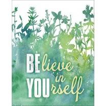 Placa metalica - Believe in yourself 30x40 cm
