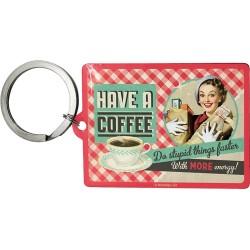 Breloc metalic - Have a Coffee