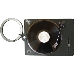 Breloc metalic - Retro Vinyl Player