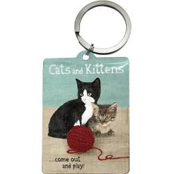 Breloc metalic - Cats and Kittens