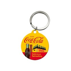 Breloc metalic - Coca Cola - In Bottles Yellow