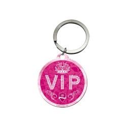 Breloc metalic - VIP Pink
