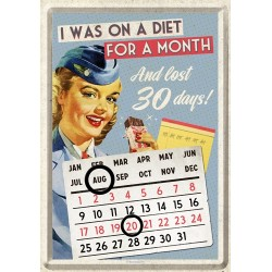 Calendar birou - Diet for a Month 10x14 cm
