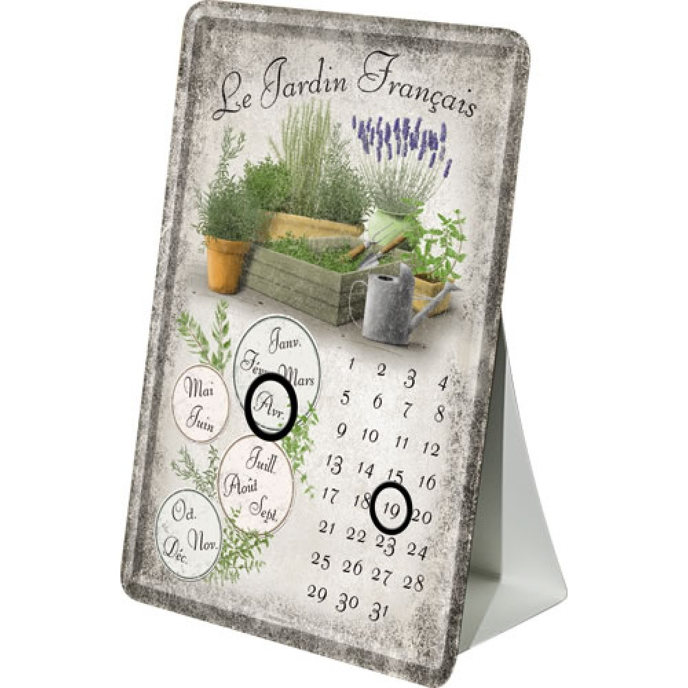 Calendar birou le jardin francais 10x14 cm Le jardin francais