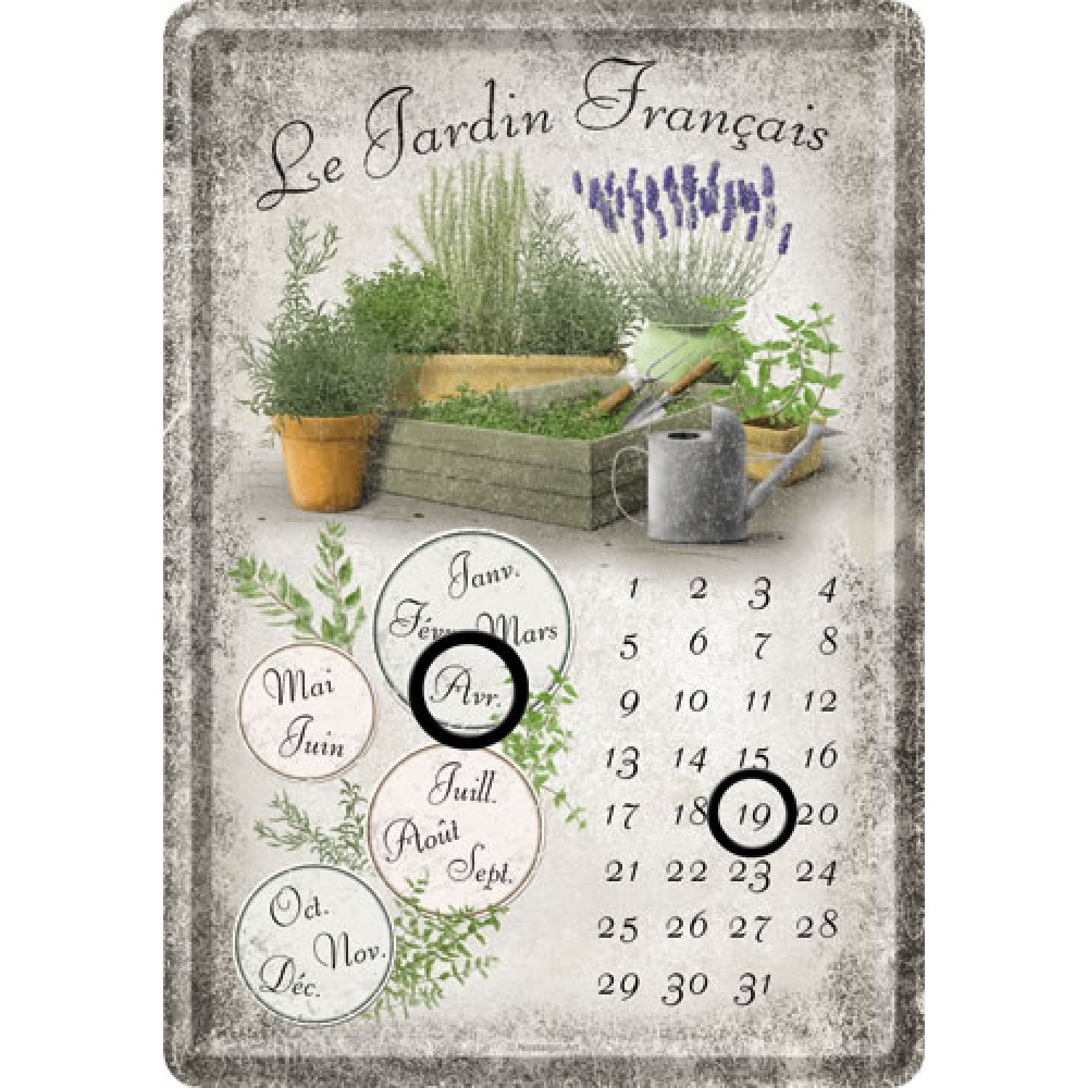 Calendar birou le jardin francais 10x14 cm for Le jardin francais