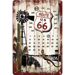 Calendar metalic - Route 66 - Survivors 20x30 cm