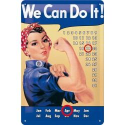 Calendar metalic - We can do it ! 20x30 cm
