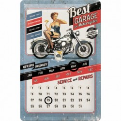 Calendar metalic - Best Garage 20x30 cm
