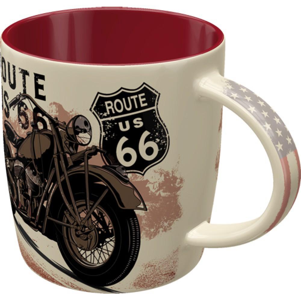 Cana ceramica Route 66 Bike Map