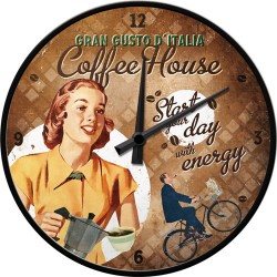 Ceas de perete - Coffee House - Ø31 cm