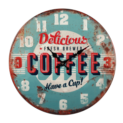 Ceas de perete - Metalic - Delicious Coffee Ø40 cm