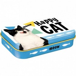 Cutie metalica cu bomboane - Treats Happy Cat