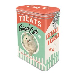 Cutie metalica cu capac etans - Treats Good Cat