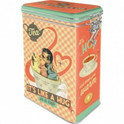 Cutie metalica cu capac etans - Tea It's like a hug in a cup