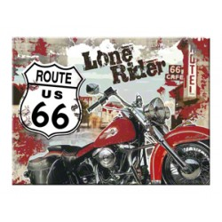 Magnet - Route 66 Lone Rider