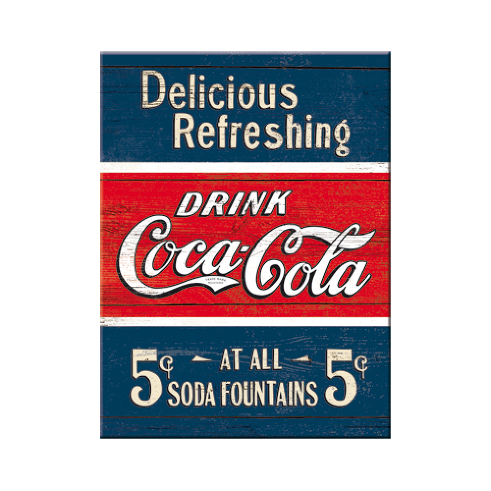 Magnet - Coca-Cola - Delicious Refreshing