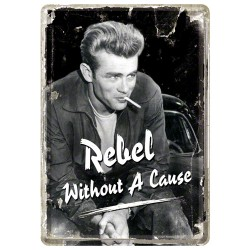 Placa metalica - James Dean - Rebel - 10x14 cm