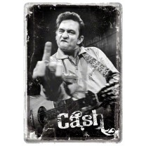 Placa metalica - Johnny Cash - 10x14 cm
