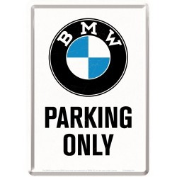 Placa metalica - BMW - Parking Only - 10x14 cm
