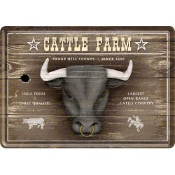 Placa metalica - Cattle Farm - 10x14 cm