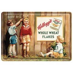 Placa metalica - Kellogg's - Whole Wheat Flakes - 10x14 cm