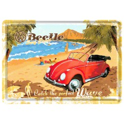 Placa metalica - VW - Surf Coast - 10x14 cm