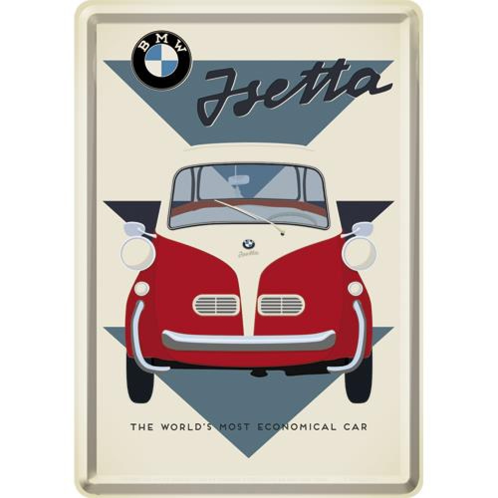 Placa metalica - BMW - Jsetta - 10x14 cm