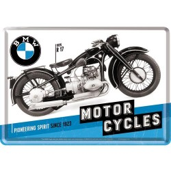 Placa metalica - BMW - Motorcycles - 10x14 cm