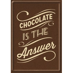 Placa metalica - Chocolate is the Answer - 10x14 cm