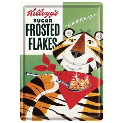 Placa metalica - Kellogg`s Sugar Frosted Flakes - 10x14 cm
