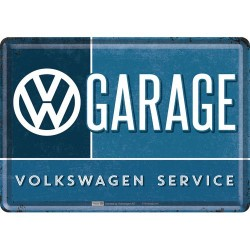 Placa metalica - VW Garage - 10x14 cm