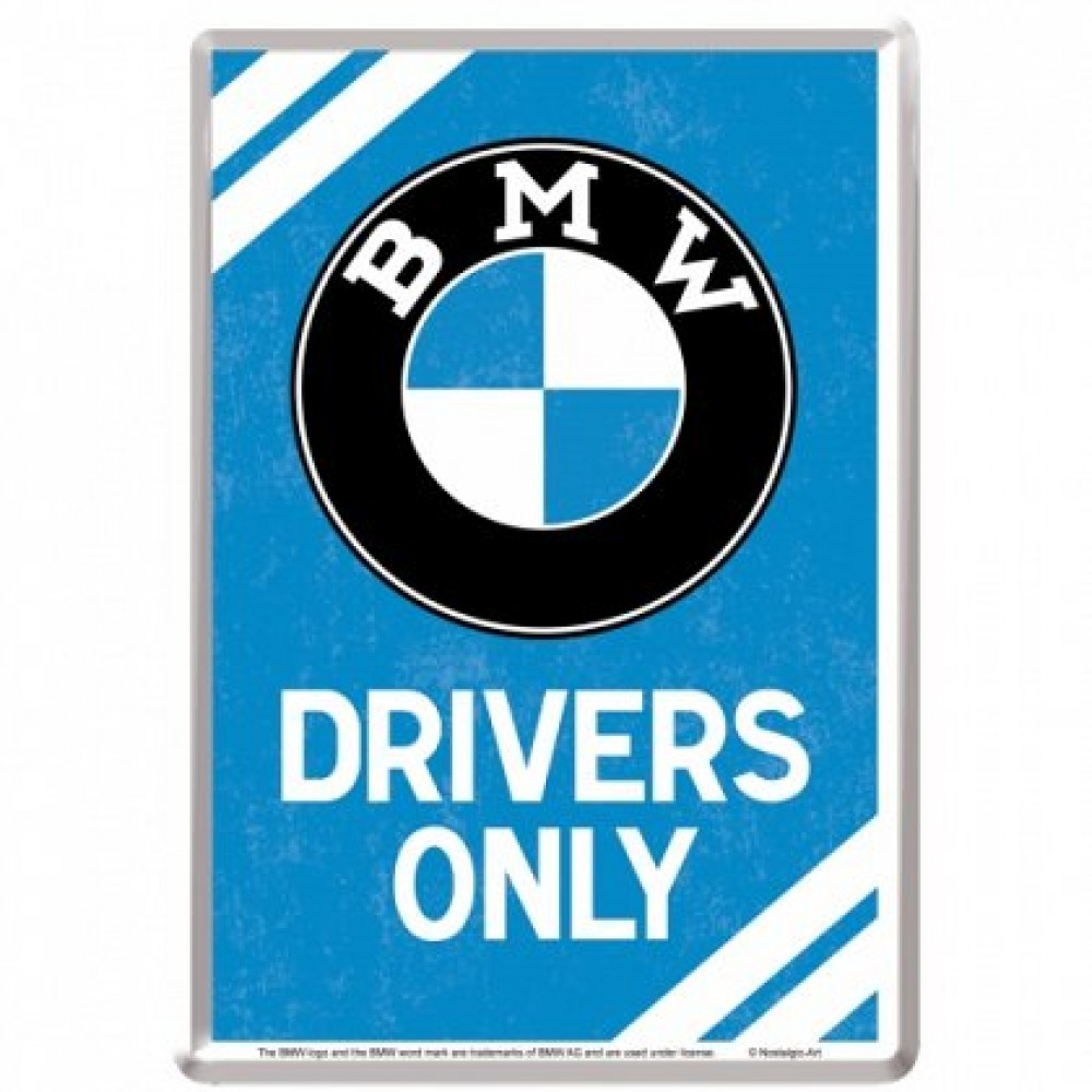 Placa metalica - BMW - Parking Only 2 - 10x14 cm
