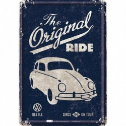 Placa metalica - VW The original  - 10x14 cm