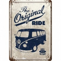 Placa metalica - VW The original Ride1950 - 10x14 cm