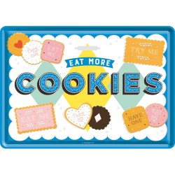 Placa metalica - Cookies - 10x14 cm