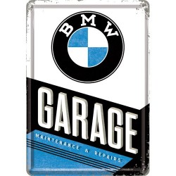 Placa metalica - BMW Garage - 10x14 cm