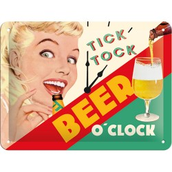 Placa metalica - Beer O'Clock Lady - 15x20 cm